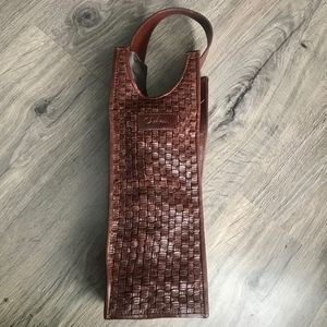 Cole Haan Brown Leather Wine Carrier